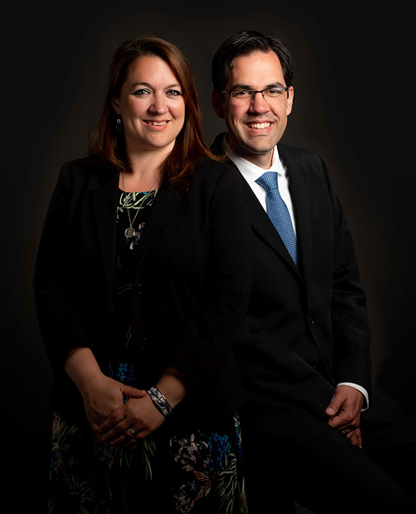 Photo of M. Kathleen Kinch & Aaron Eddie